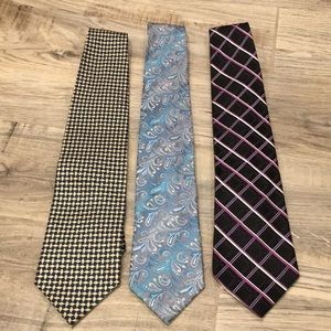 100% Silk Ties bundle of 3